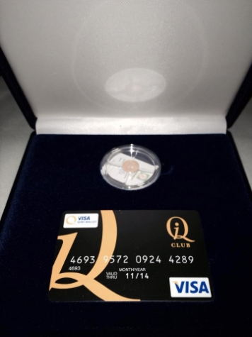 Кобрендинговая пластиковая карта QIWI Visa Plastic