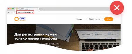 Сайты, маскирующиеся под официальные страницы платежных систем