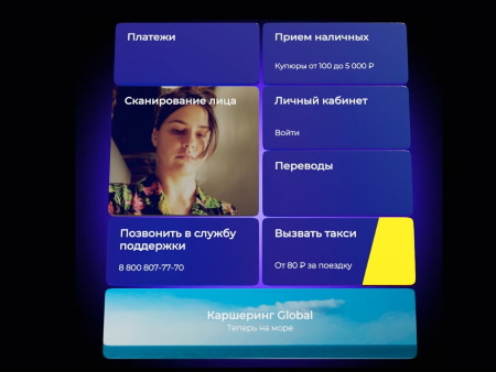 Интерфейс терминала QIWI